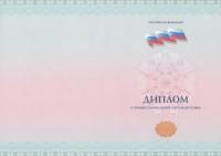 Бланк диплома о профессиональной переподготовке с флагом (лицевая сторона)