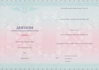 Бланк диплома о профессиональной переподготовке с типографским текстом от 1000 часов обучения (оборотная сторона)
