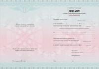Бланк диплома о профессиональной переподготовке с типографским текстом Классический вариант (оборотная сторона)