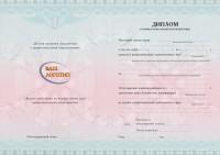 Бланк диплома о профессиональной переподготовке с Вашим логотипом (оборотная сторона)